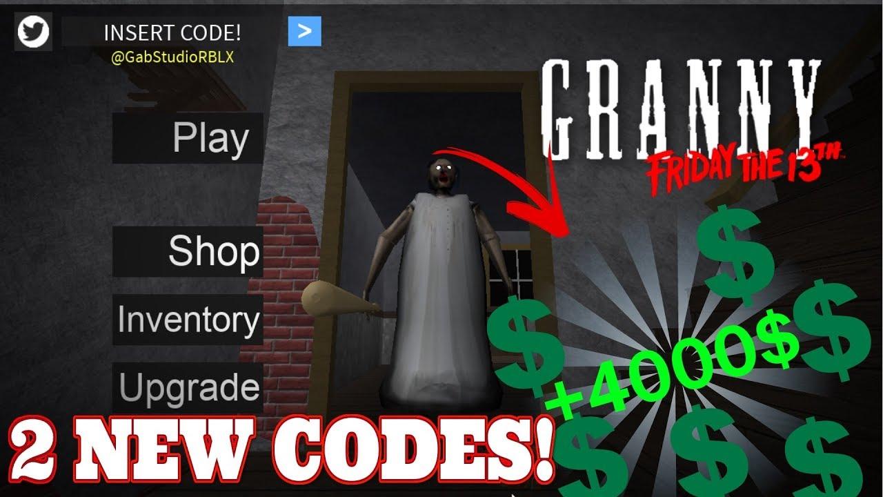 Granny 2 New Codes Roblox Youtube