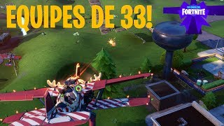 14 DIAS DE FORTNITE - EQUIPES DE 33 - Fortnite Battle Royale