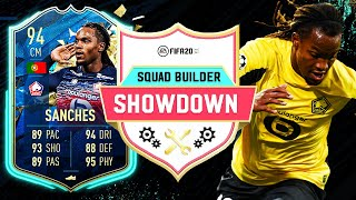 THIS CARD IS INCREDIBLE!! 94 TOTS RENATO SANCHES SQUAD BUILDER SHOWDOWN!! - FIFA 20 ULTIMATE TEAM