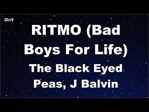 Karaoke♬ RITMO (Bad Boys For Life) - The Black Eyed Peas, J Balvin 【No Guide Melody】 Instrumental