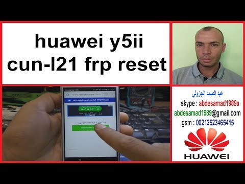 Frp Lock Huawei Y5ii Cun-l21 Frp Reset Google Account Remove