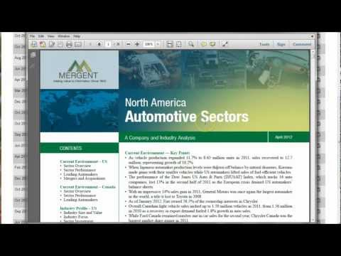 How to find industry analysis and industry reports for the automobile industry