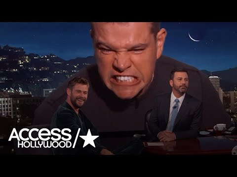 Matt Damon Crashes Chris Hemsworth's Interview On 'Jimmy Kimmel Live' | Access Hollywood