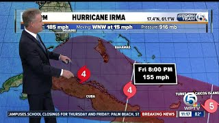 Category 5 Hurricane Irma's winds at 185 mph thumbnail
