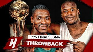 Hakeem Olajuwon vs Shaquille O'Neal EPIC Game 4 Duel Highlights 1995 NBA Finals - MUST SEE