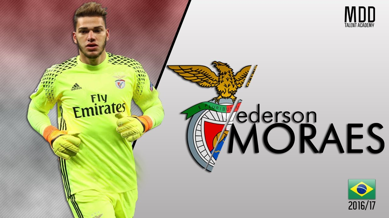 new style 2606f c4984 Ederson Moraes | Benfica | Best Saves | 2016/17 - HD