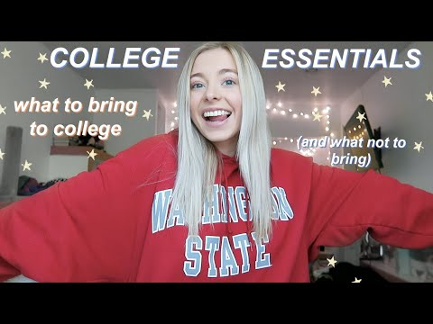 what to bring to college (and what not to)   college essentials