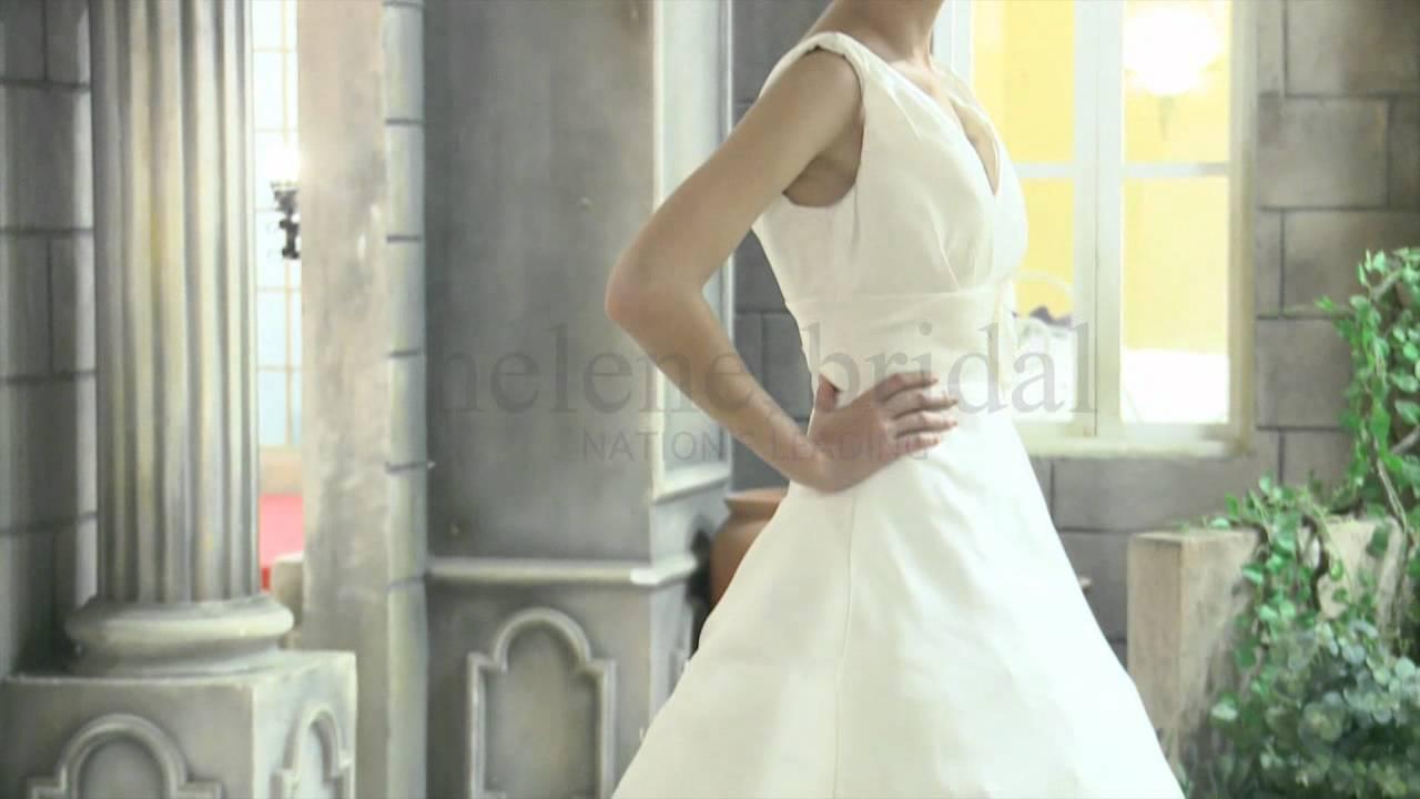 Ball Gown V-Neck Empire Non-Strapless Tank Satin Wedding