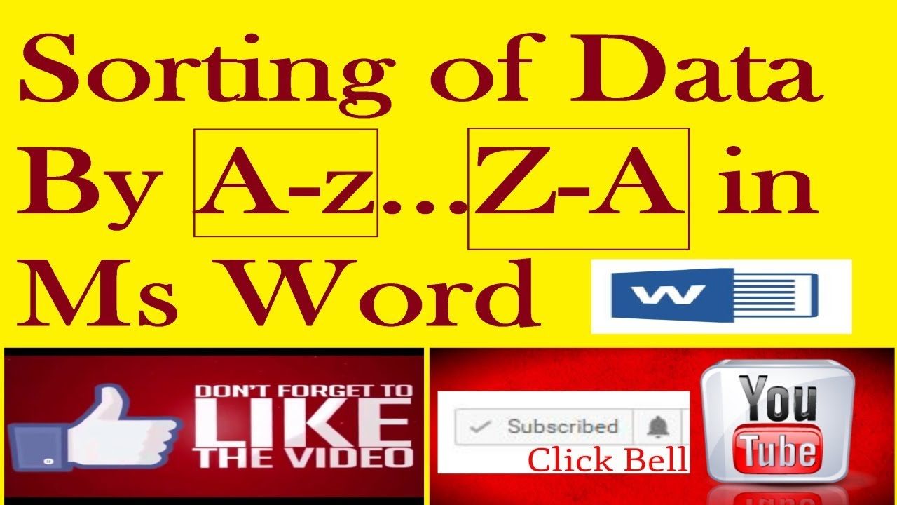 How to Sort Text in Ascending and descending Microsoft Word 2016 Tutorial  in Hindi Urdu