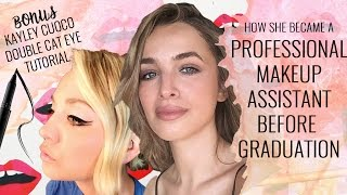 How she became a Professional Makeup Assistant Before Graduation!