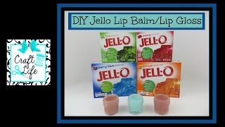 Craft Life ~ Jacy and Kacy DIY ~ Jello Lip Balm ~ Lip Gloss Tutorial