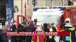 France - attaque à l'arme blanche : quatre blessés près des anciens locaux de Charlie Hebdo
