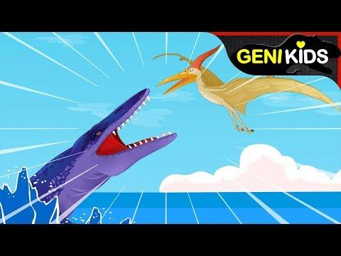 프테라노돈! 이빨은 없지만 물고기를 잡아먹는 익룡 ★지니키즈 공룡백과
