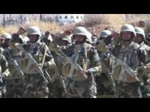 Syrian Troops Train At Base Near Damascus