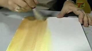 Tv Transamérica - Técnica: Pintura em tela com Acrylic Colors Acrilex - Parte1
