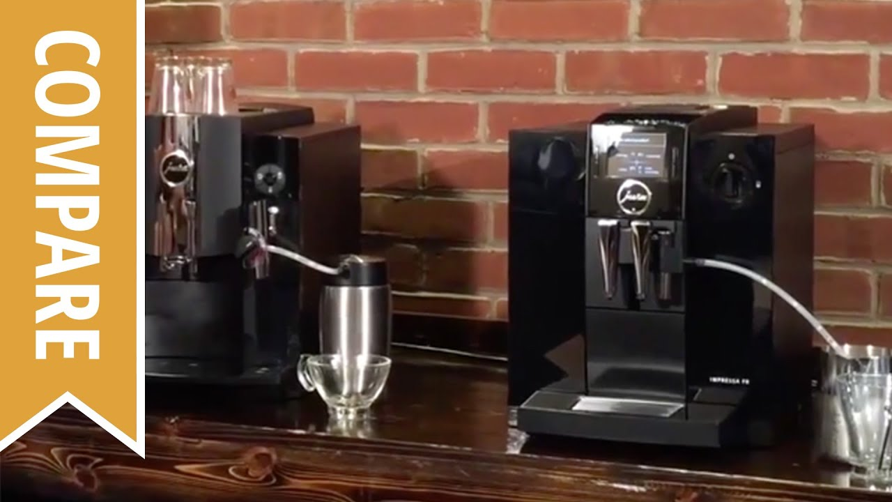 compare jura impressa c9 and jura impressa f8 espresso machines youtube. Black Bedroom Furniture Sets. Home Design Ideas