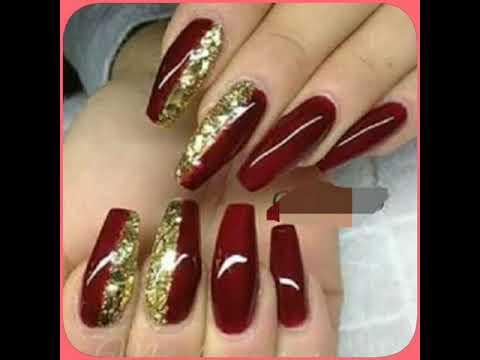 Uñas Acrílicas Colores Vino Rojas Y Pasion Diseños Hermosos