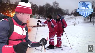 Hvem kommer først til Nordpolen på tandemski?