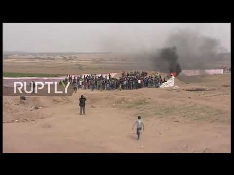 State of Palestine: Israeli snipers kill two people in 'March of Return' protest in Gaza