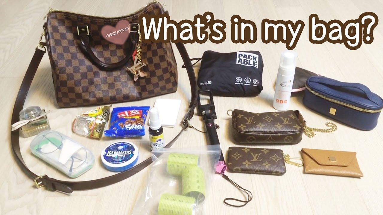 75288b3c0cdb What s in my bag  Louis Vuitton Speedy B 30 Damier Ebene