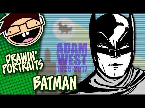 Portrait Drawing 1960s BATMAN | Tribute to Adam West (1928-2017)