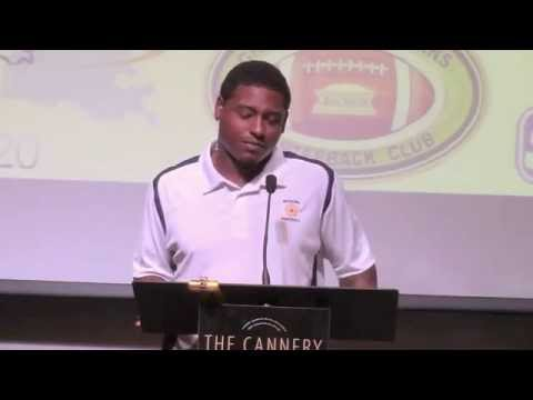Former LSU star Skyler Green at Greater NO QB Club- Oct 6, 2014
