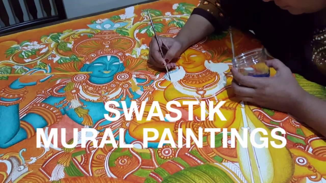 Kerala mural painting classes youtube for Mural painting images