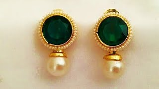 Light Weight Emerald And Gold Jewellery Designs 2018