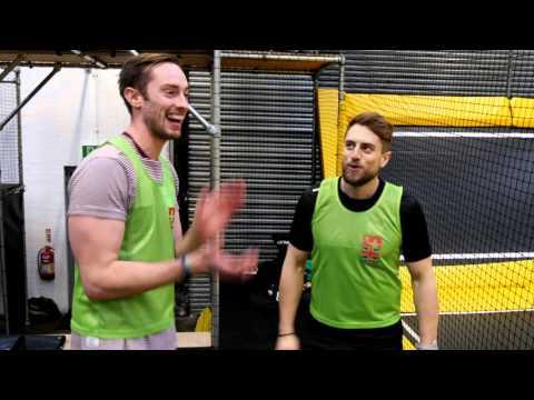 Go Air vs Cardiff Devils....at Trampoline Dodgeball!!!