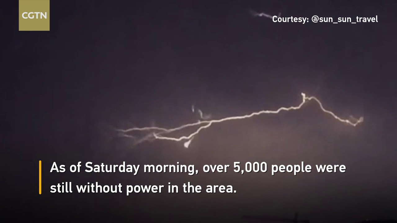 Monsoon storm causes lightning and power outages in ...