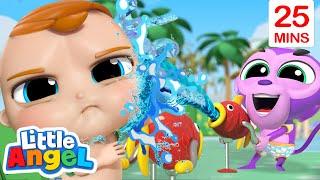 Stop Baby Monkey | Good Manner Song + More Little Angel Kids Songs & Nursery Rhymes