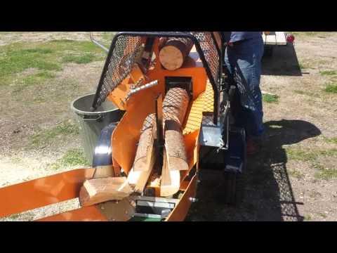 RR2500 Firewood Processor 4 Way Splitting
