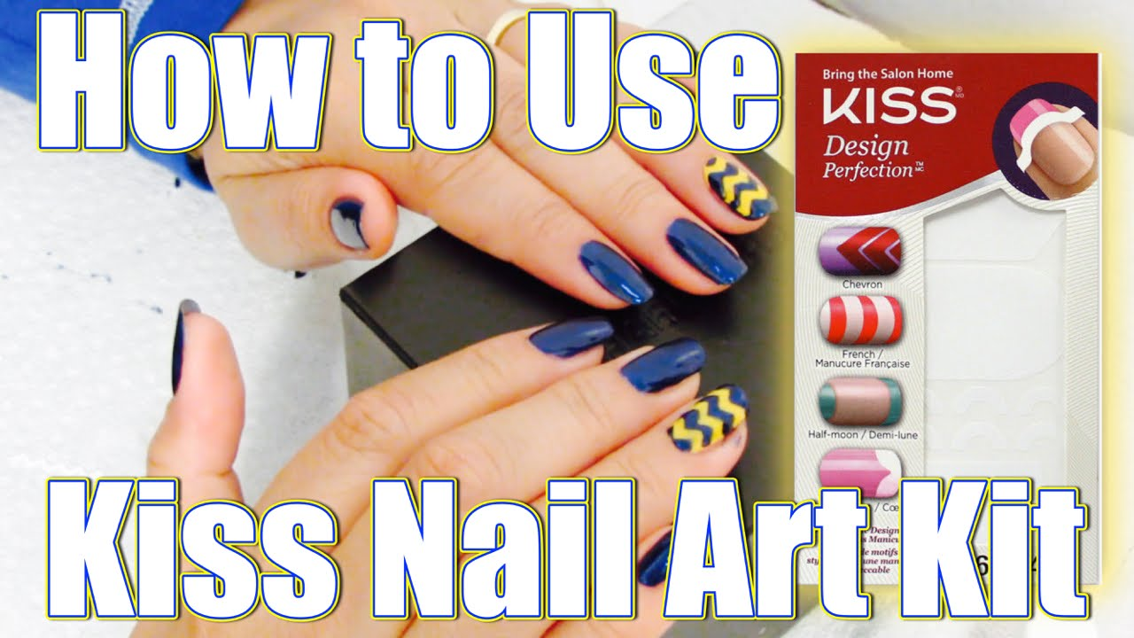 How to use Kiss nail art kit - YouTube