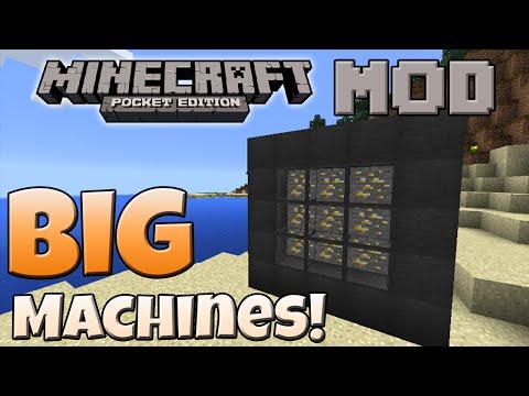Big Machines Mod: Ore Extraction And Auto-Farm - ModShowcase Minecraft PE