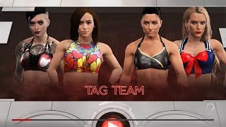 WWE 2K17 - Dakota Kai and Ruby Riot VS Sonya Deville and Lacey Evans