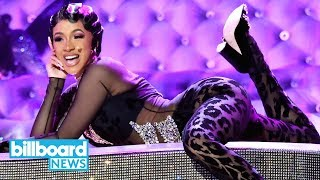 Cardi B Twerks On a Dazzling Piano in Glamorous 'Money' Performance at 2019 Grammys | Billboard News