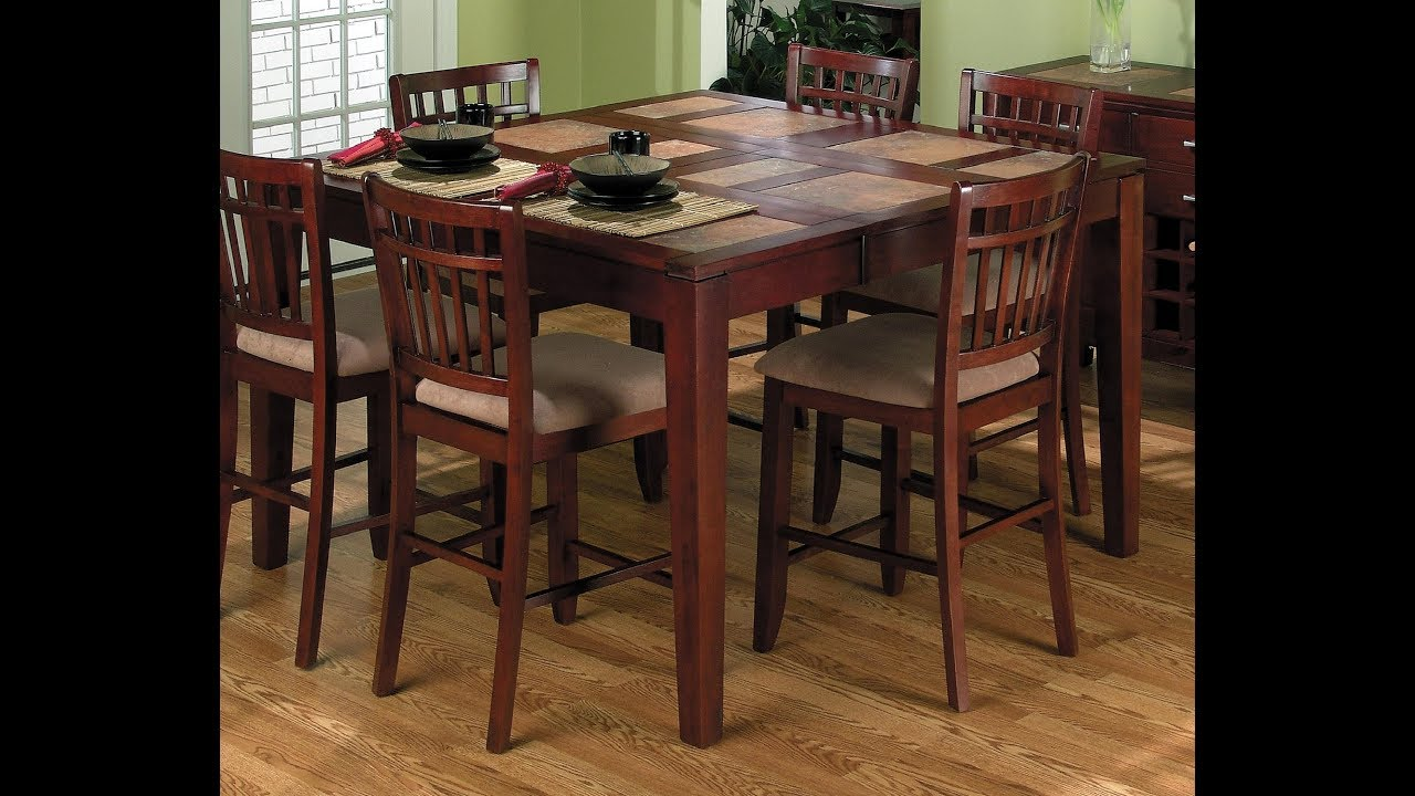 high top dining room table youtube