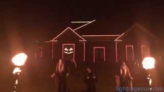 2015 Halloween Light Show (Thriller, Michael Jackson, James Egbert Remix)