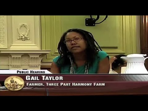 DC Council Hearing on Urban Farming & Food Security Act