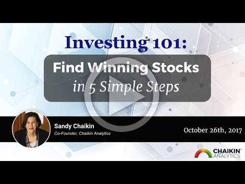 Investing 101: Finding Winning Stocks in 5 Simple Steps 10/26/17