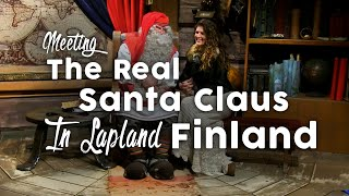 meeting the real santa claus in lapland finland 🌲