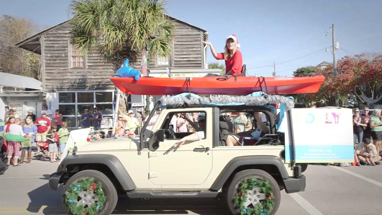 Folly Beach Christmas Parade Highlights 2015 - YouTube