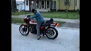 Kawasaki GPz 1100 burnout back in day