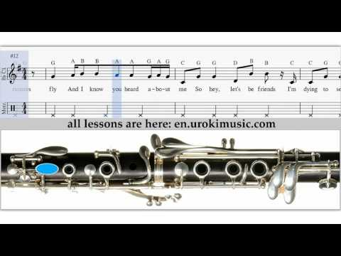 How to play clarinet taylor swift blank space sheet music