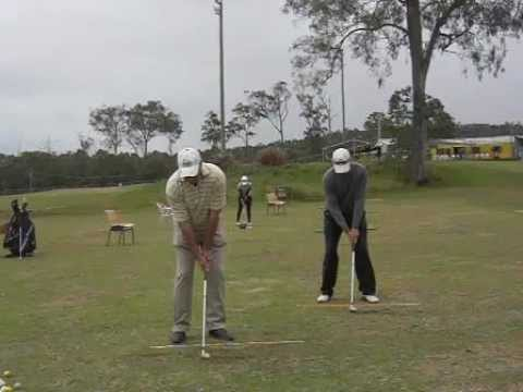 Matthew Ecob and Ossie Moore Golf Swing. Caddie View ...