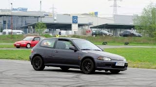 Honda Civic Eg B16B and Civic ED Time Attack 2 - Kart Track - Driver Fasui Mihail & Robert Makrai