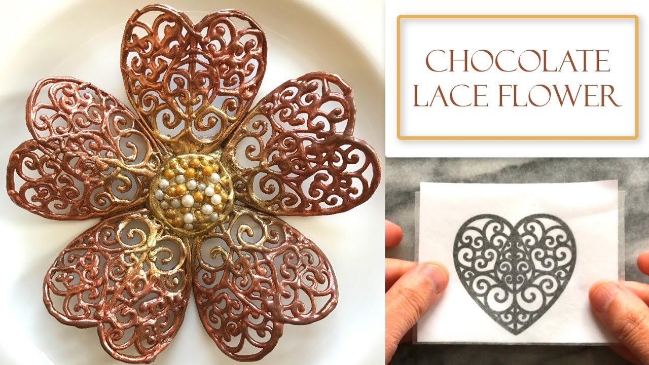 How To Make A Chocolate Lace Flower Decorations