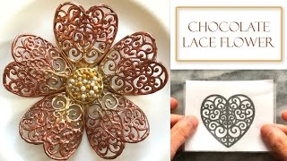 How to Make a Chocolate Lace Flower | Chocolate Decorations