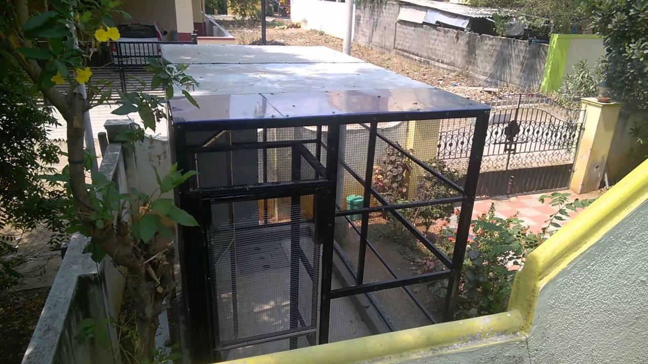 outdoor aviary construction progress video4 youtube