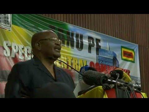 ZANU-PF members celebrate as ruling party dismisses leader
